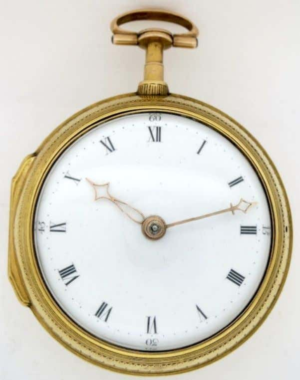 English Gold Pair Cased Watch with Verge Movement by Hunter of London 1734 Outer Case