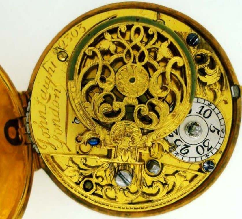English Gold Repousse Pair Cased Watch with Verge Movement by John Laight of London 1734
