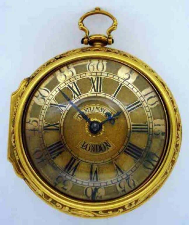English Gold Pair Cased Repousse Watch with Verge Movement by William Tomlinson of London 1738