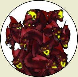 Hydra Monster Rating : 45 per head (typically 5) Combat Dice : 5d6 +23 per