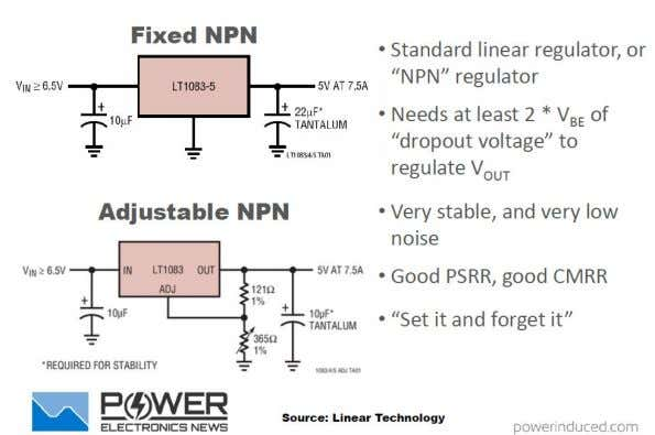 Power Supply Design Tutorial Then Came the Integrated NPN The next evolution after discrete linear regulators