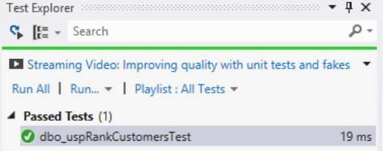 Figure 6: Writing the unit test Step 2: Running the test In the Test tab click
