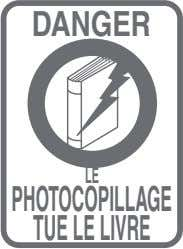 DANGER LE PHOTOCOPILLAGE TUE LE LIVRE