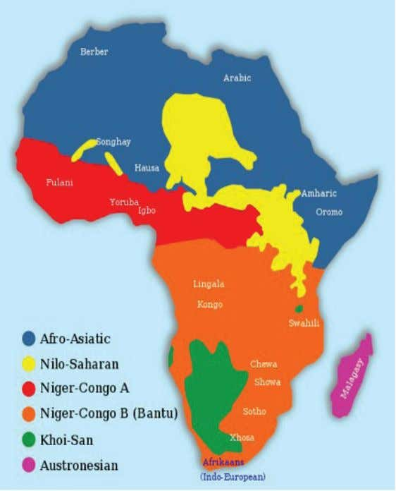 Culture of West Africa | 9 Map of African Languages administrative structure that allows for the