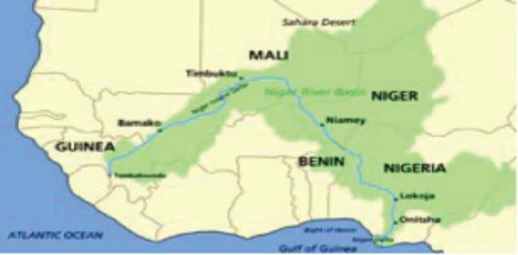 RIVER: WEST AFRICAN CULTURAL HIGHWAY OF CENTRAL SIGNIFICANCE Map of the Niger River and Niger River
