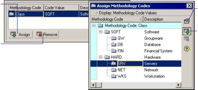 codes and values (choose Define, Methodology Codes). Close button Assign button Oracle Primavera P6 - Methodology