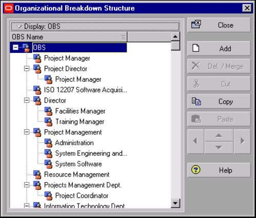 can change the name to represent the top person or group in the organization. Oracle Primavera