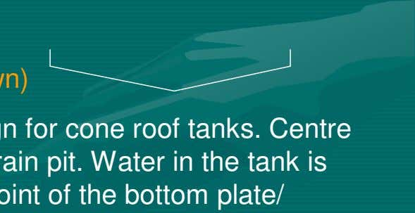 of bottom plate. Two types of tank flooring are: > 3.1.1 Cone down bottom (Bottom down)