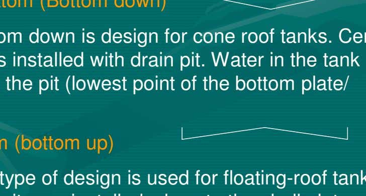 flooring are: > 3.1.1 Cone down bottom (Bottom down) Generally, bottom down is design for cone