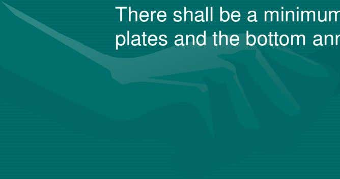 minimum lap shall be five times the thickness of the plate. There shall be a minimum