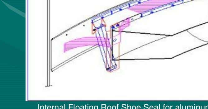 Seals for Floating Roof Tanks Pantograph Shoe Seal. Internal Floating Roof Shoe Seal for aluminum internal