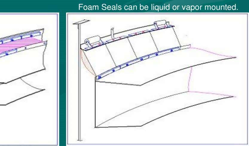 Foam Seals can be liquid or vapor mounted.