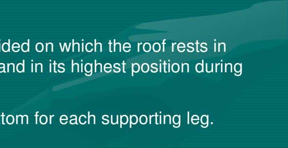 proper functioning of the floating roof. > Support legs Adjustable supporting legs are provided on which