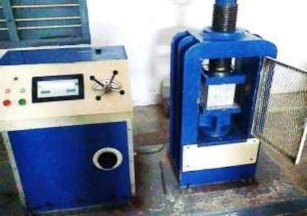 used in the compressive test are: 150 mm x 150mm x 150mm Fig. 9: Compression Testing