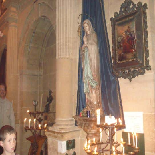 and I think religions can We always light a candle by the statue of out Lady