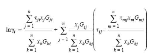 hydrocarbon industry 6.a. NRTL (Non-Random-Two-Liquid) : The NRTL (Non-Random-Two-Liquid) equation, proposed by Renon