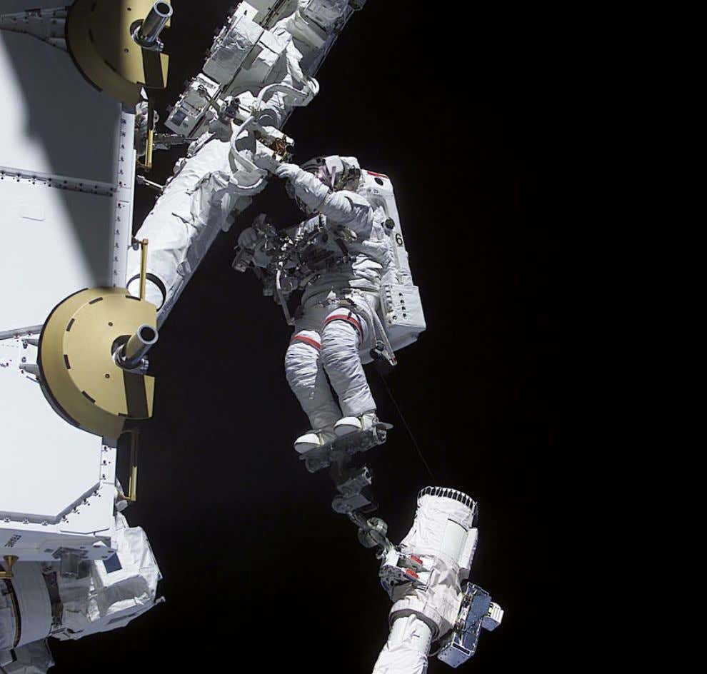 "20. SPACEWALKING: SPACEWALKS ""[There's] nothing between you and the universe, but the plastic of your"