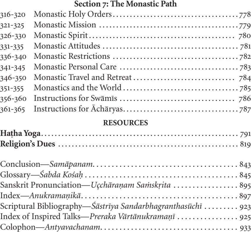 316-320 Section 7: The Monastic Path Monastic Holy Orders 778 321-325 Monastic Mission 326-330 Monastic