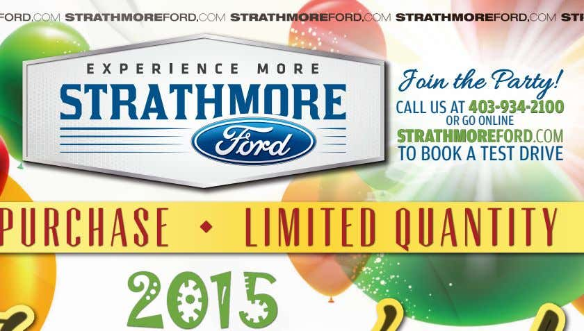 TIMES • September 25, 2015 www.StrathmoreTimes.com Join the Party! CALL US AT 403-934-2100403-934-2100 OR GO