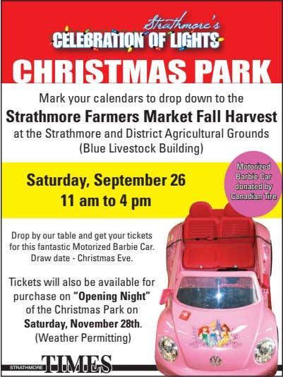 Strathmore's CELEBRATION OF LIGHTS CHRISTMAS PARK Mark your calendars to drop down to the Strathmore
