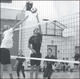 gain points during matches and make sure the serves count. Mitchell Desjardins (#14) of the Holy