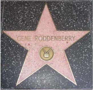 Roddenberry's star on the Hollywood Walk of Fame. Presented in 1985, it was the first