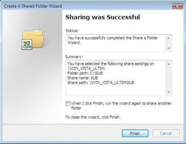 17. Select Finish . Your New Folder is now created and shared. 22 | P a