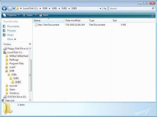 the folder and its content. You should also have access to create a file Viewed Remotely