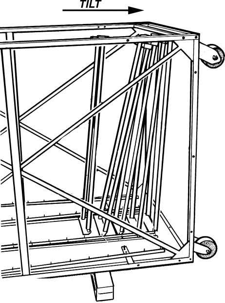 the bottom front panel, towards the casters (Figure 19). Figure 19 2 1 Figure 18 Item