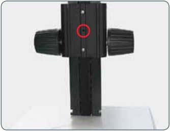 carrier is fastened to the column using the screw provided. Alternative installation options Depending on the