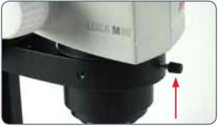 tighten the positioning screw. It is automatically brought to the correct position. Leica M-series User Manual