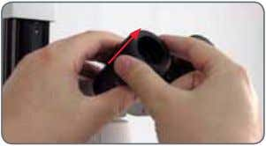 firmly and rotate the eyecups forwards counterclockwise. 2. If an eyepiece is equipped with the inte-