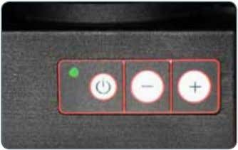 the illuminator by briefly press- ing the (ON/OFF) button. The green LED on the upper left