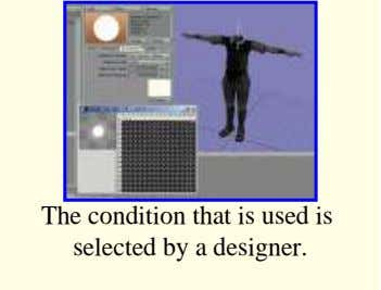 The condition that is used is selected by a designer.