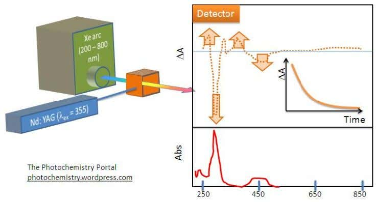 flash, therefore monitoring the decay of the excited state. Schematic of Transient Absorption Spectroscopy Experiment: