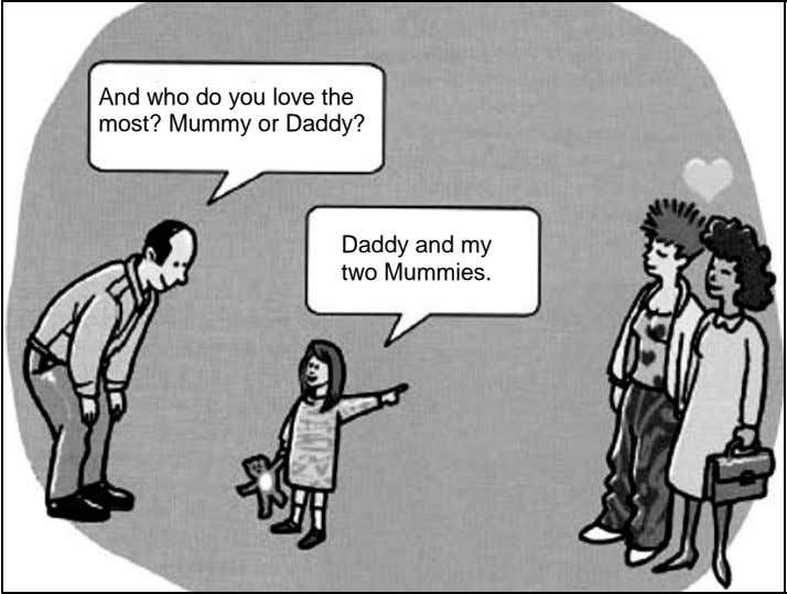 And who do you love the most? Mummy or Daddy? Daddy and my two Mummies.