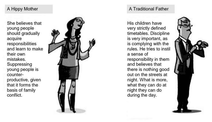 A Hippy Mother A Traditional Father She believes that young people should gradually acquire responsibilities