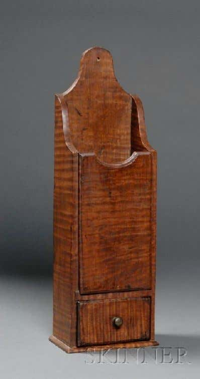 American Tiger Maple Pipe Box Late 18th Century (Skinner)