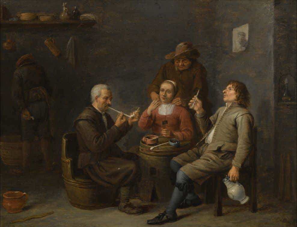 Figures Smoking in an Inn by a Follower of David Teniers the Younger (Sotheby's) c.