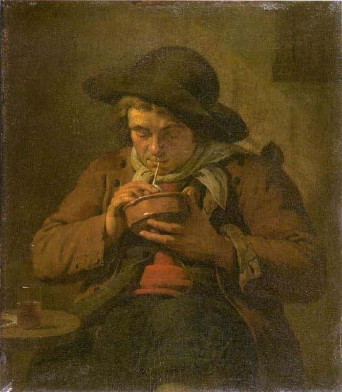 A Dutch Farmer Snoking a Pipe by Jan Ekels the Younger c, 1787 (Städelsches Kunstinstitut)