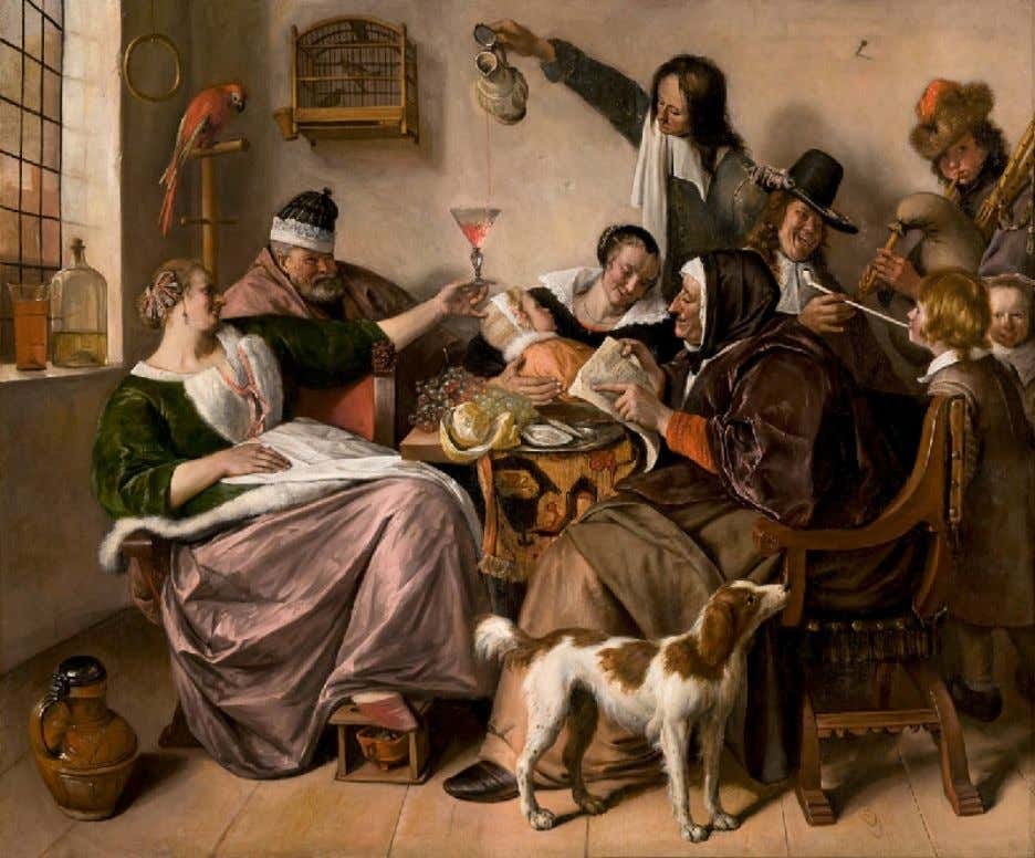 """The Way You Hear It Is the Way You Sing It"" byJan Steen c. 1665"