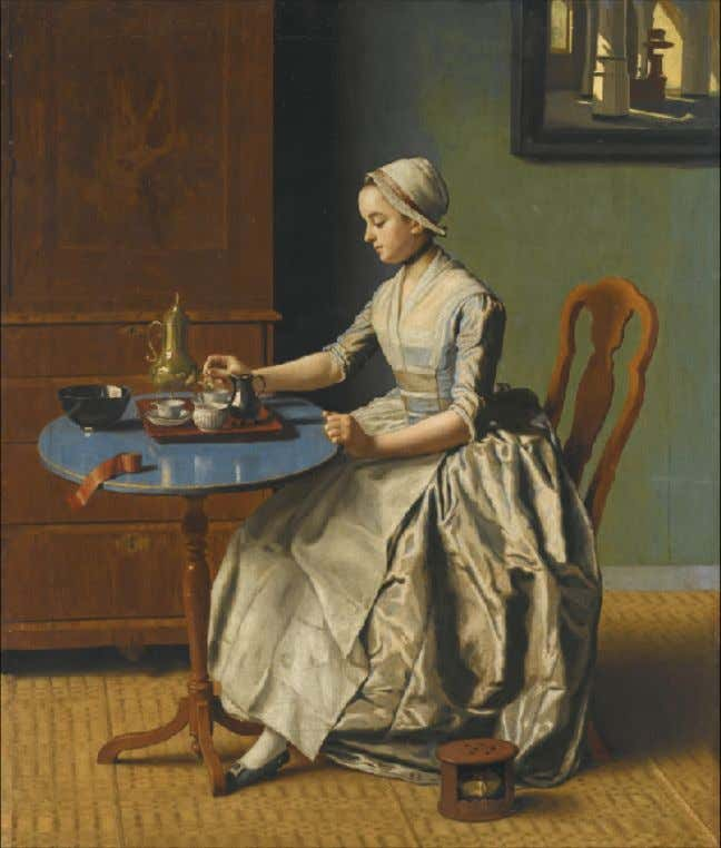 A Dutch Girl at Breakfast by Jean-Etienne Liotard (Sotheby's) c. 1750