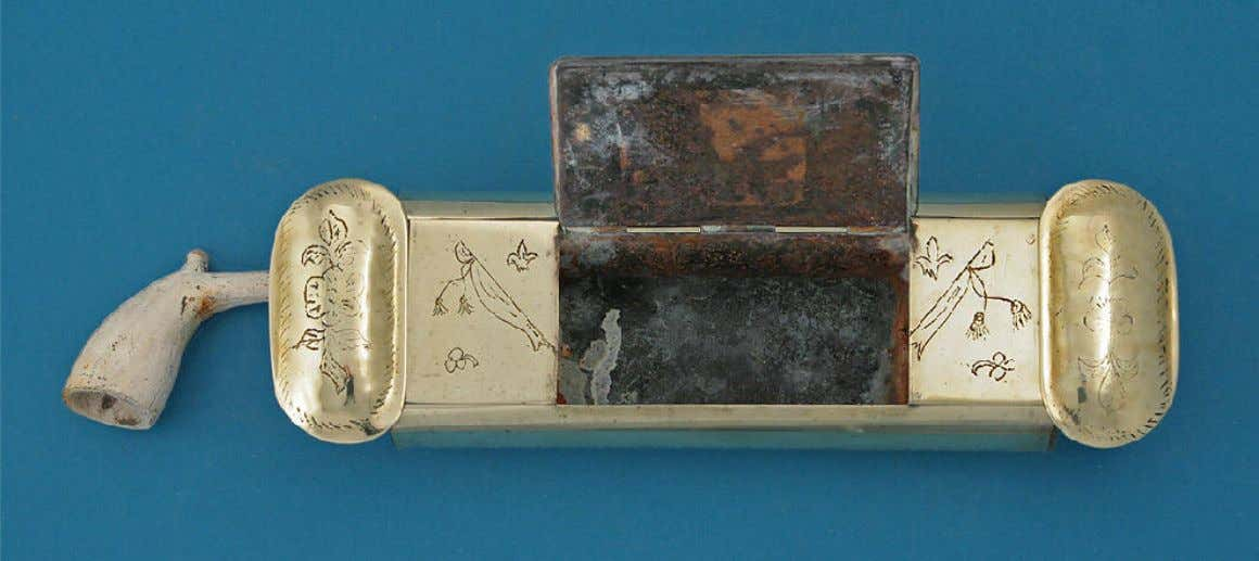 English Brass Pipe Case Late 18th Century (M. Ford Creech Antiques & Fine Arts)