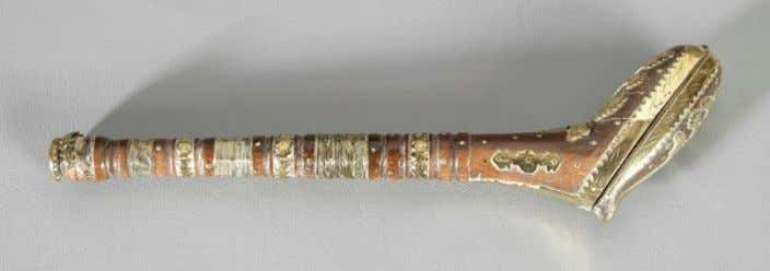 Dutch Wooden Pipe Case with Brass Fittings Dated 1770 (Brunk Auctions)