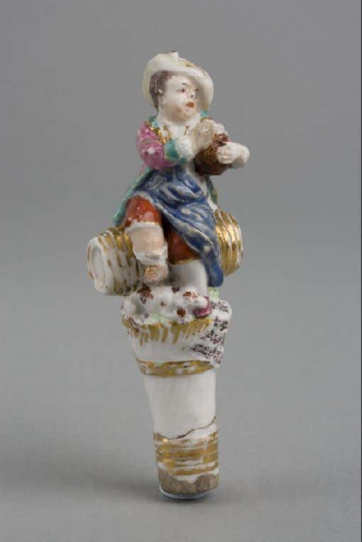 English Hard Paste Porcelain Pipe Stopper from London Chelsea Porcelain Manufactory (Victoria & Albert) c.