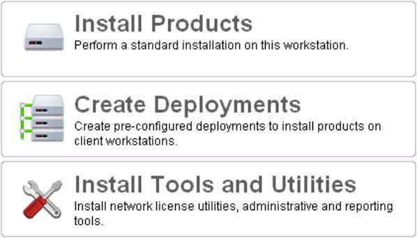 and Utilities from a single, consistent user interface. Figure 1. Installation Wizard. When you choose to