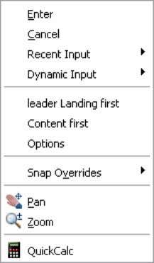 specify remains persistent for subsequent Multiple Leaders. Figure 42. Multileader right-click menu. The new Multileader
