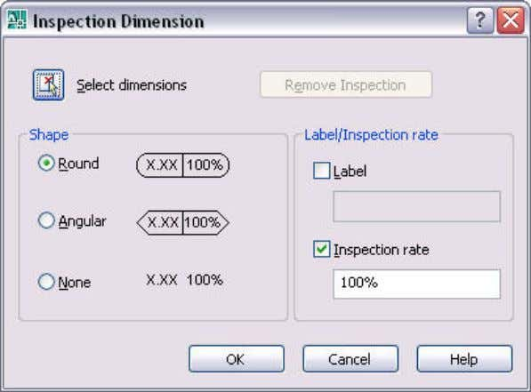 AUTOCAD 2008 PREVIEW GUIDE Figure 57. Inspection Dimension dialog box. You can add a jog to