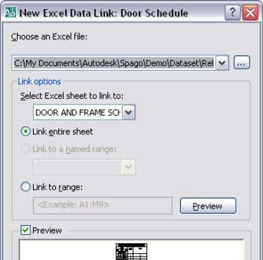 AUTOCAD 2008 PREVIEW GUIDE Figure 65. Excel data links. You can edit, rename, delete and preview