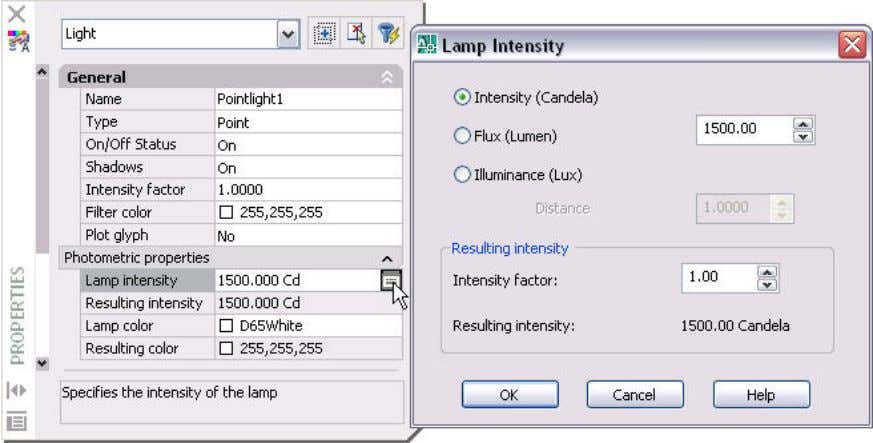 AUTOCAD 2008 PREVIEW GUIDE Figure 79. Photometric Properties. In addition to the improvements to materials and